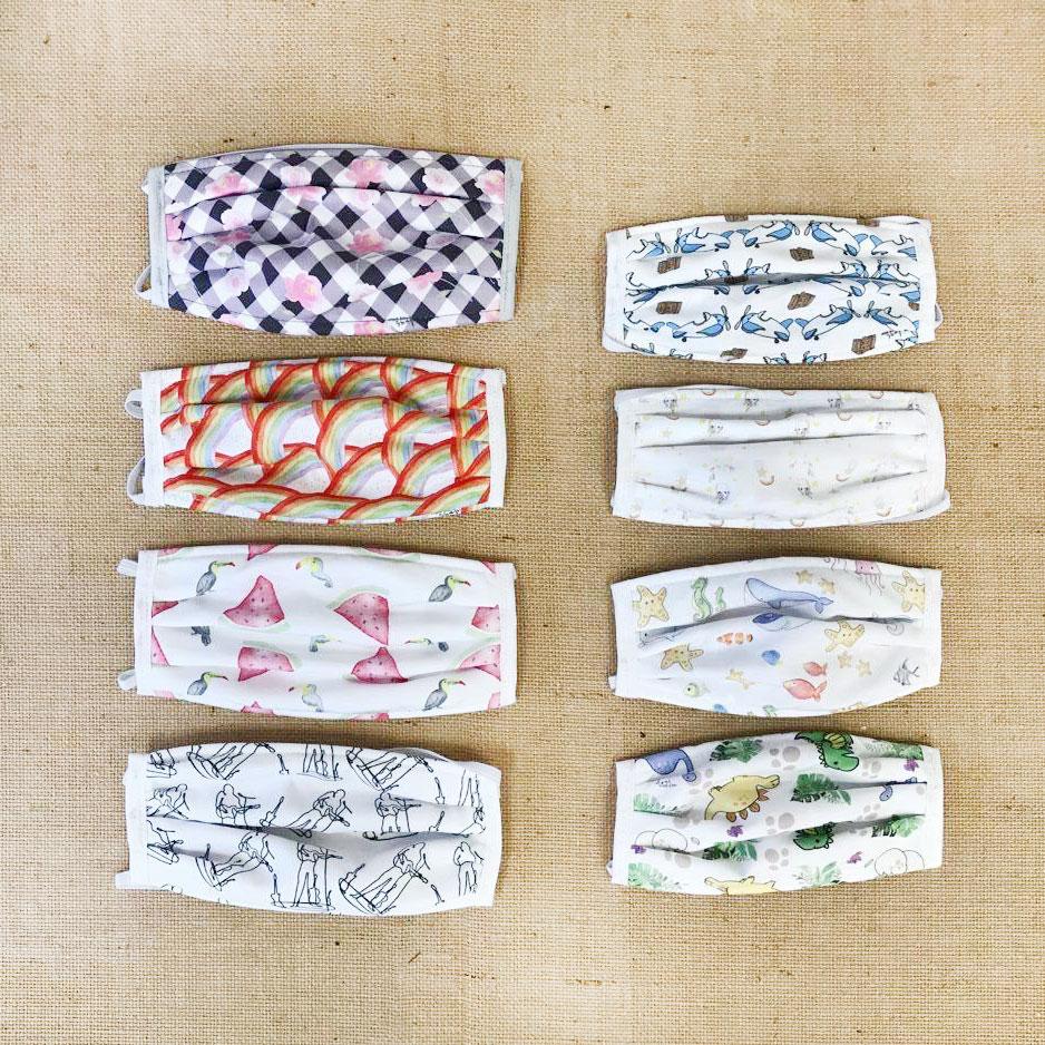 Algunos de nuestros modelos de mascarillas lavables y certificadas