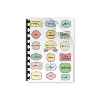 etiquetas pegatinas de cocina