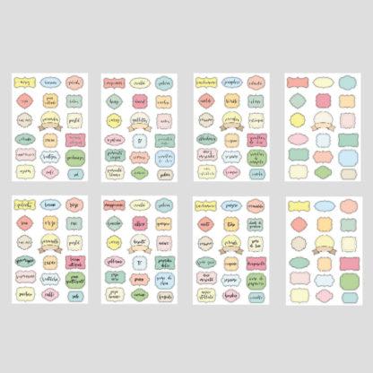 etiquetas pegatina de cocina
