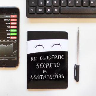 Cuaderno contraseñas