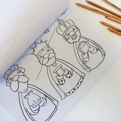 libro de colorear navidad