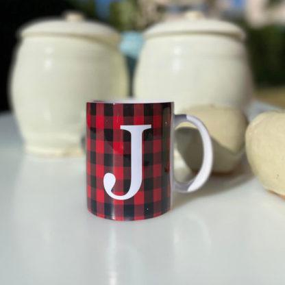 taza tartan rojo negro