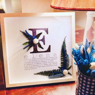 lamina personalizada nombre flores preservadas