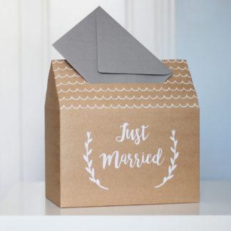 buzón regalo bodas kraft