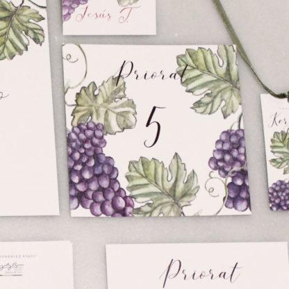 números de mesa uva